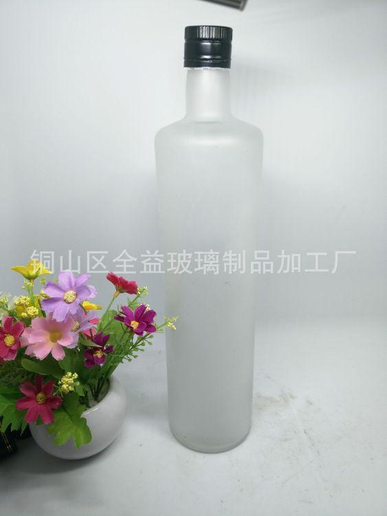 厂家直销玻璃瓶 玻璃橄榄油瓶1000毫升透明玻璃有瓶