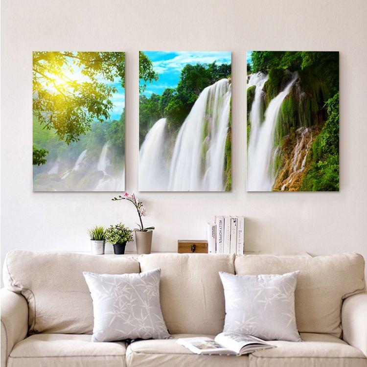 欧式客厅挂画风景画 水晶无框画批发墙壁装饰画挂画 可定制