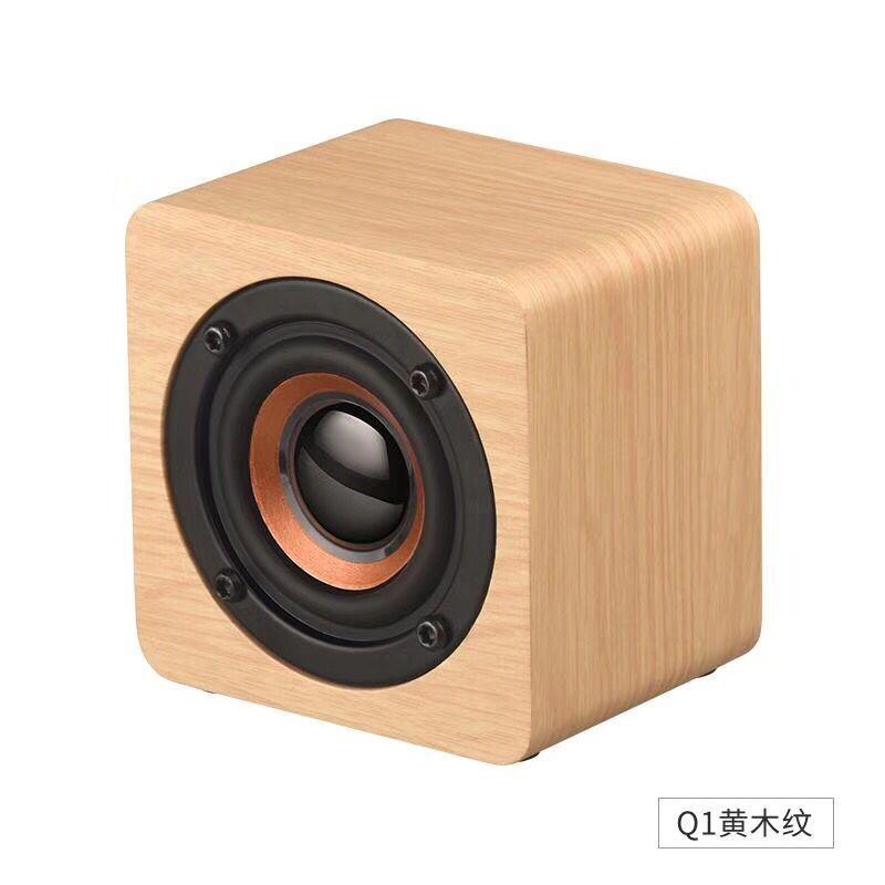 Q1新款木质迷你无线蓝牙音箱 手机礼品便携 创意小音响