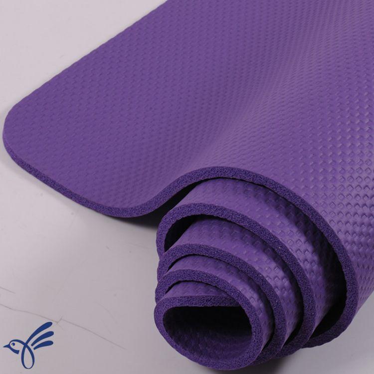 加厚nbr瑜伽垫定制10mm环保橡胶瑜伽垫运动垫瑜伽毯一件代发
