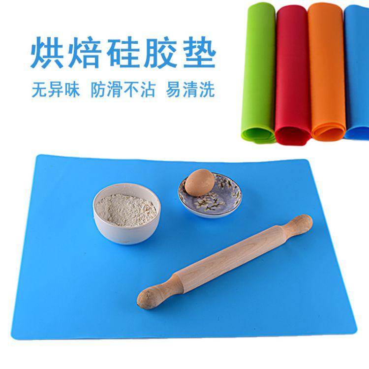 大号40*50纯色硅胶案板揉面垫防滑不沾烘焙垫和面粉烤箱垫耐高温