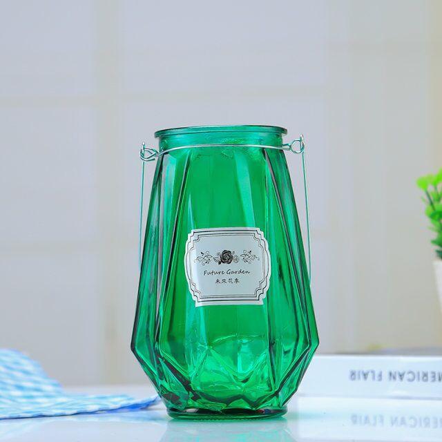批发北欧花瓶玻璃瓶ins 简约插花瓶创意玻璃彩色花瓶家居桌面摆件
