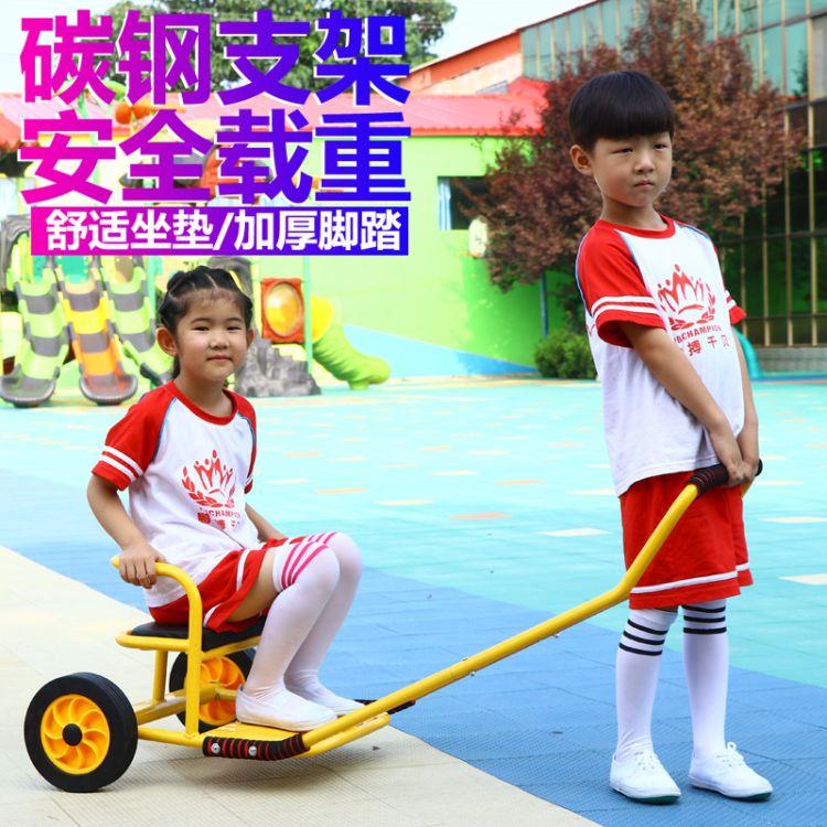 幼儿园幼教专用玩具互动童车儿童体育健身器材 角色扮演黄包车