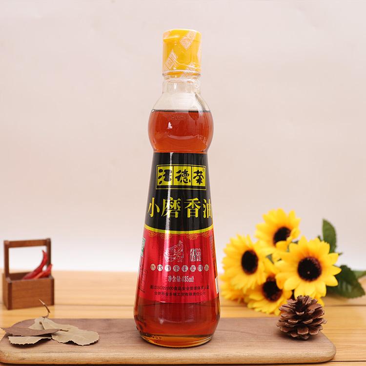 汪德荣香油435ml*12小磨香油芝麻食用香油烹饪调味佐餐植物油批发