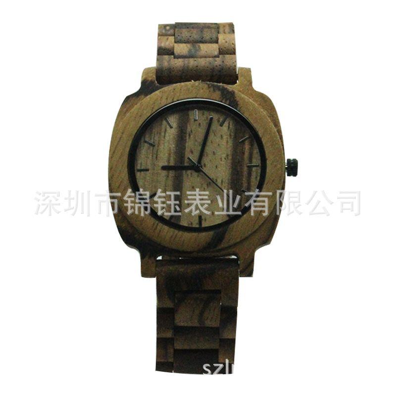 精品推荐简约商务檀木手表 新款木手表 全木制表 木头手表订制
