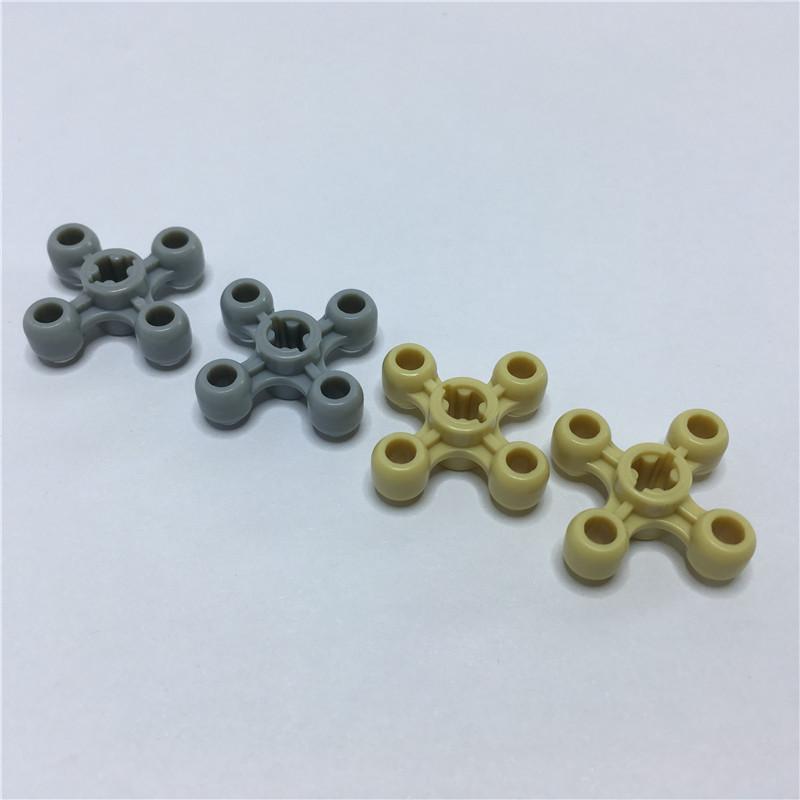 32072甥乐科技件积木散装配件角轮 4齿齿轮 旋转轮100片跨境