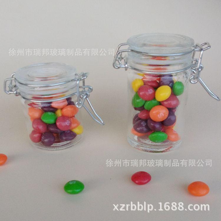 许愿瓶手工糖果瓶玻璃创意玻璃迷你食品密封罐包装瓶玻璃瓶带盖