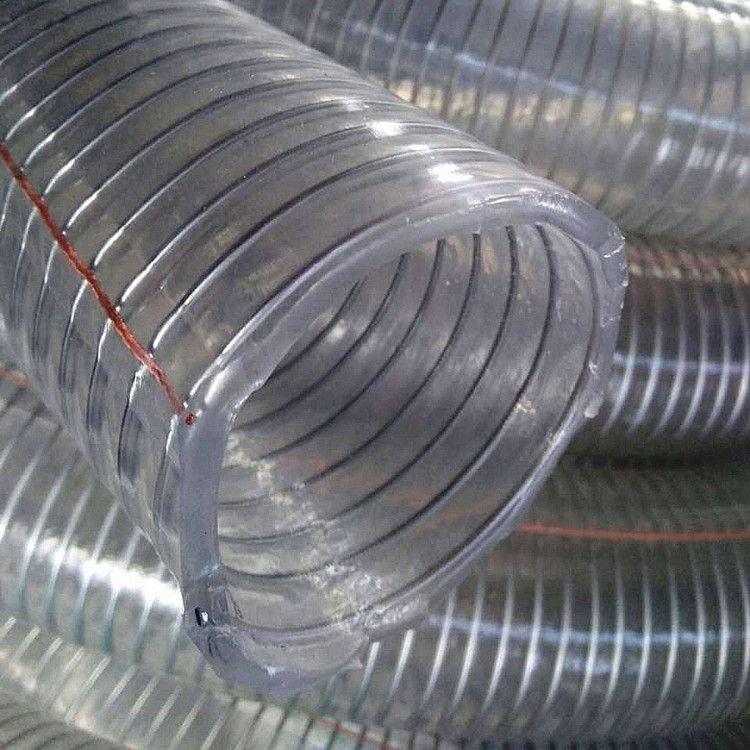 厂家直销PVC钢丝软管 透明PVC钢丝软管 耐低温PVC钢丝软管