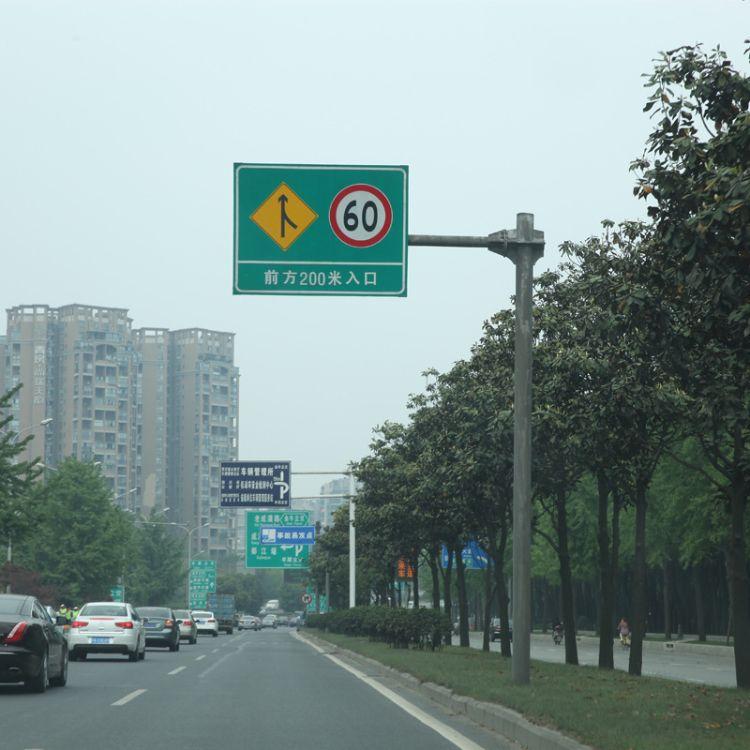 专业定制F型交通标志牌杆 单悬臂式交通标志杆 道路交通标志杆
