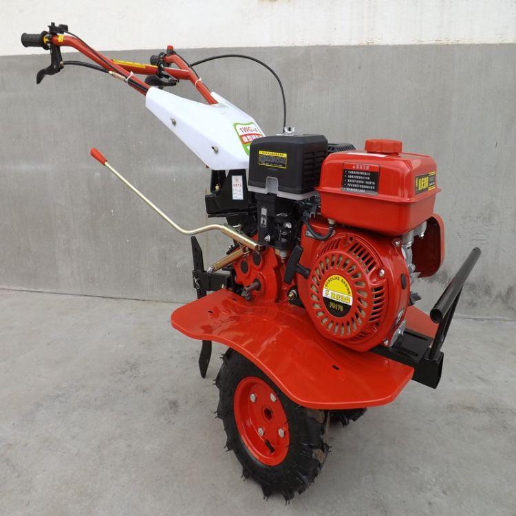 微耕机汽油微耕机小型松土机旋耕起垄除草开沟柴油耕地机