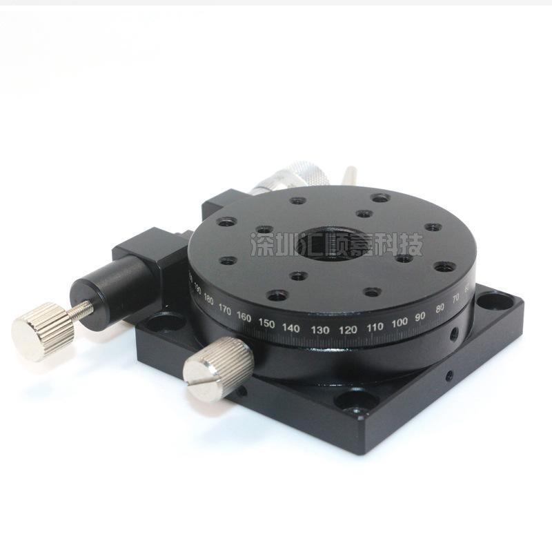 顺嘉RSP60R系列60mm手动旋转台 精密微调滑台 手动位移旋转平台