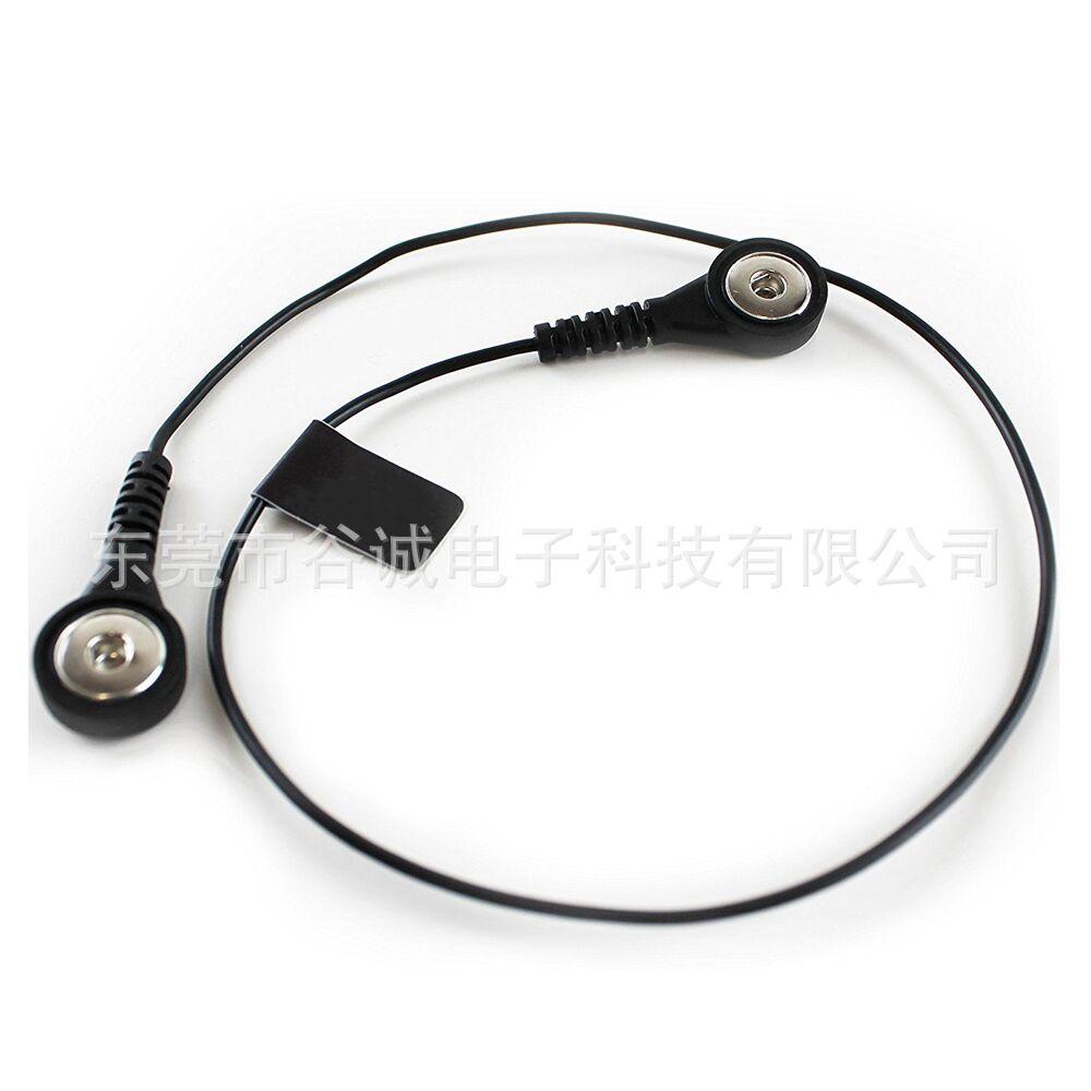 厂家直销理疗仪电极线医疗纽扣电极线