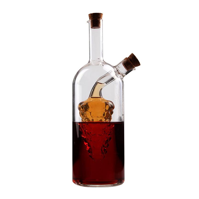 厂家直销可定制高硼硅无铅玻璃油壶 厨房用品酱油瓶 醋瓶 麻油瓶