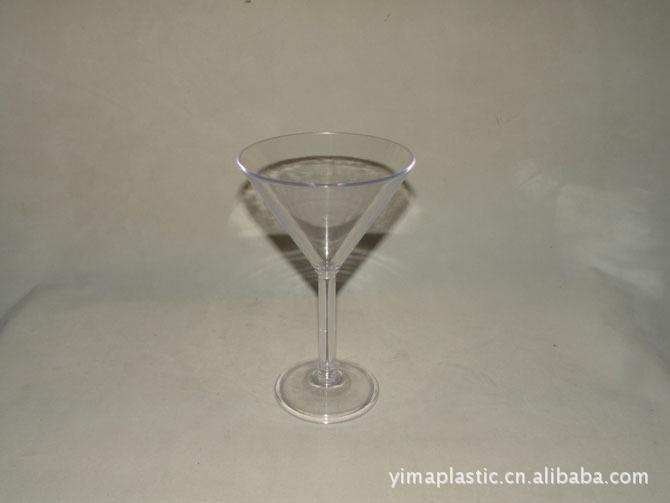 塑料高脚杯 压克力高脚杯 塑料红酒杯 香槟杯