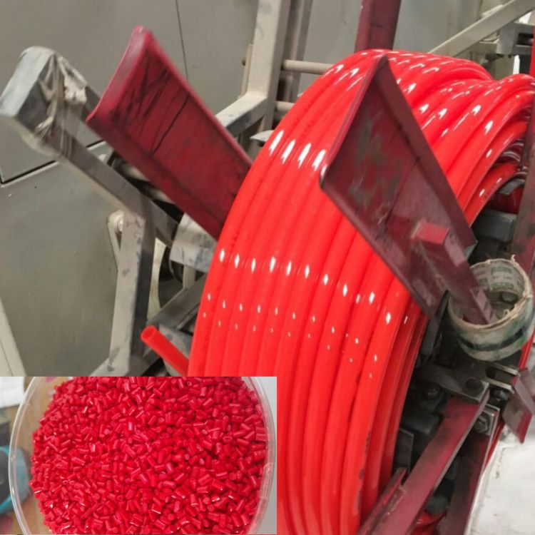 PERT大红色母粒 PERT管材专用亮红色母粒 高光高亮PERT红色母粒