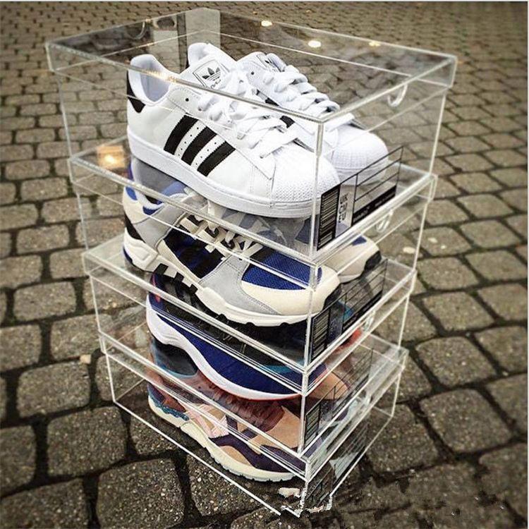 厂家直销 供应透明盒子 有机玻璃耐克鞋盒 亚克力鞋盒 透明鞋盒