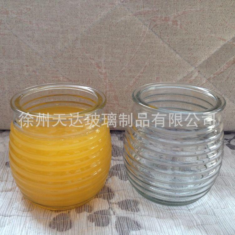 设计定制加工灌蜡玻璃瓶烛台玻璃香薰瓶 透明灌蜡玻璃瓶