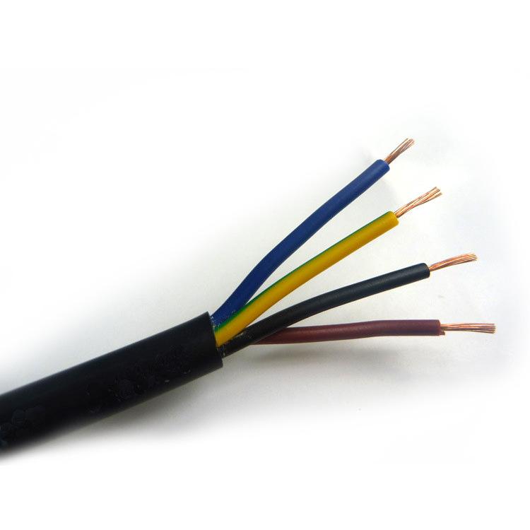 厂家直销无氧铜国标监控工程电源线 AVVR 4*0.3监控4芯护套电源线