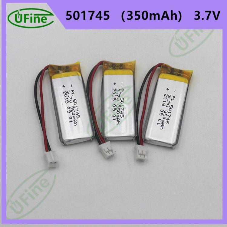可充电501745 3.7v 350mAh聚合物锂电池美容产品电动工具电动牙刷