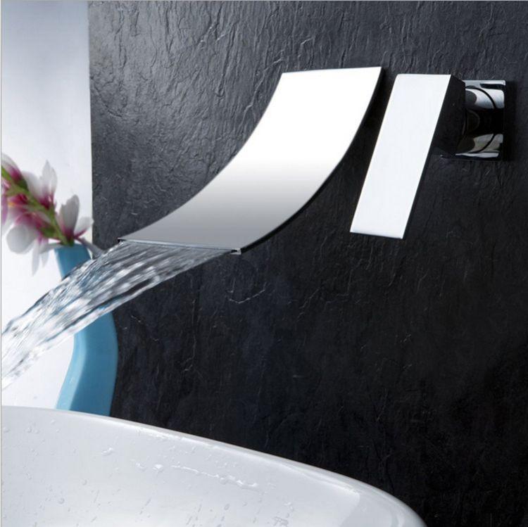 開平廠家批發 304不銹鋼無鉛出口入墻瀑布龍頭出水嘴