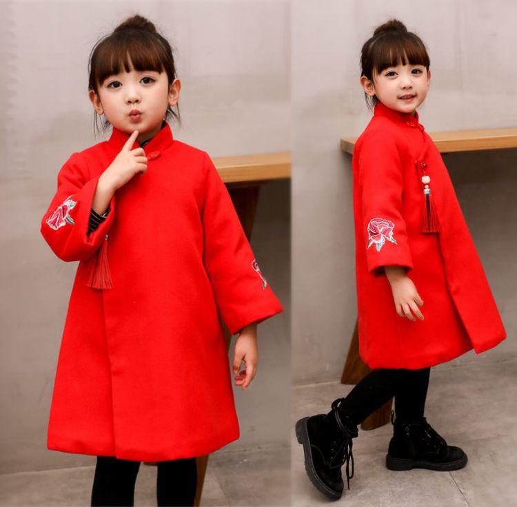女童唐装冬儿童新年装喜庆宝宝装过年衣服女中国风童装汉服拜年服