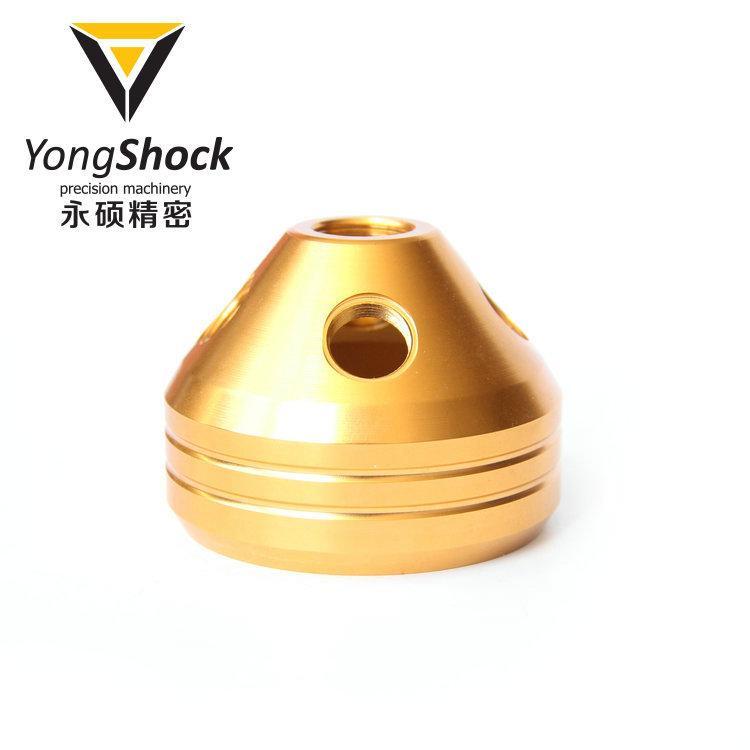 光滑螺纹水烟配件 金色光亮阳极 永硕铝6061-T6铝大圈