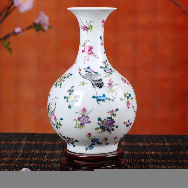景勤陶瓷花瓶 家居简约夜光 花瓶 装饰品摆件 陶瓷 工艺摆件批发
