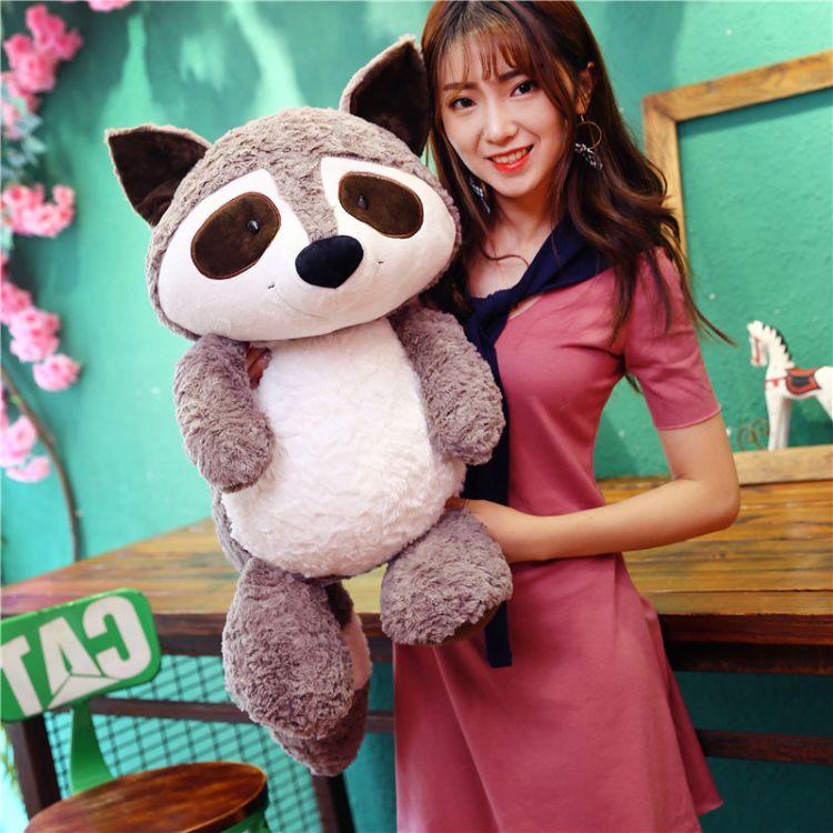 可爱浣熊公仔熊熊毛绒玩具泰迪熊娃娃睡觉抱韩国送女生熊超萌礼物