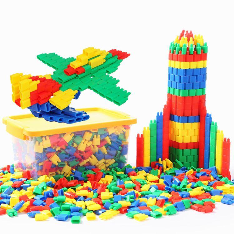 子弹头积木玩具 拼装玩具开发智力拼插积木3-9岁儿童拼插益智玩具