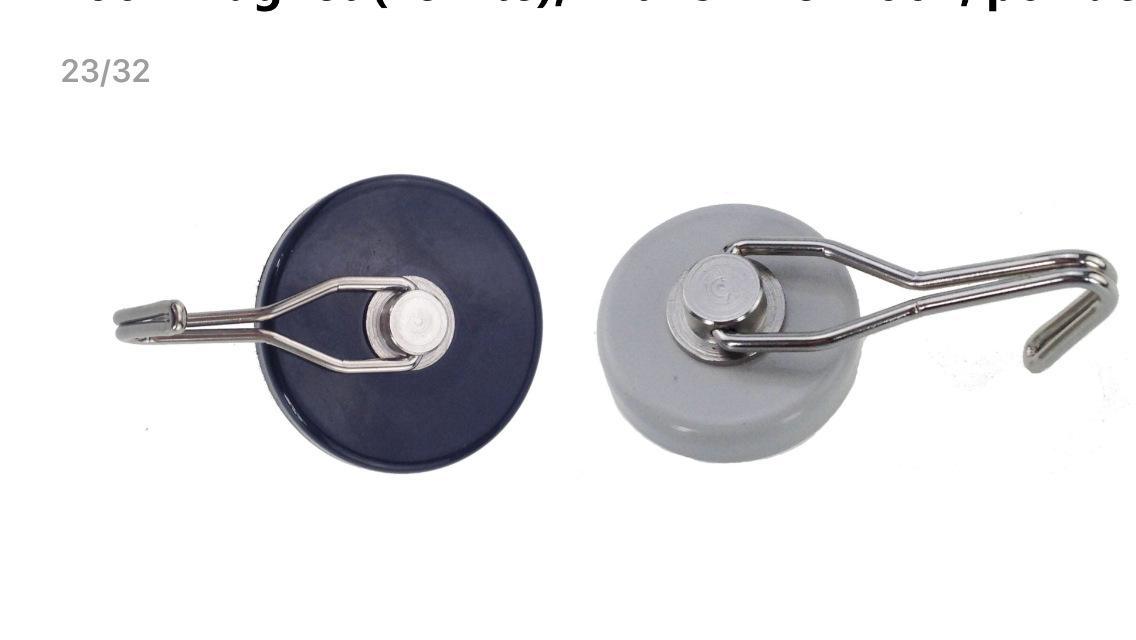 铁氧体磁铁旋转挂钩 磁铁挂钩吸盘 磁吸锅磁 磁铁固定器 塑料挂钩