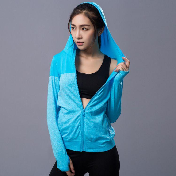2017新款户外瑜伽服 外套速干长袖瑜伽服 跑步运动健身瑜伽服