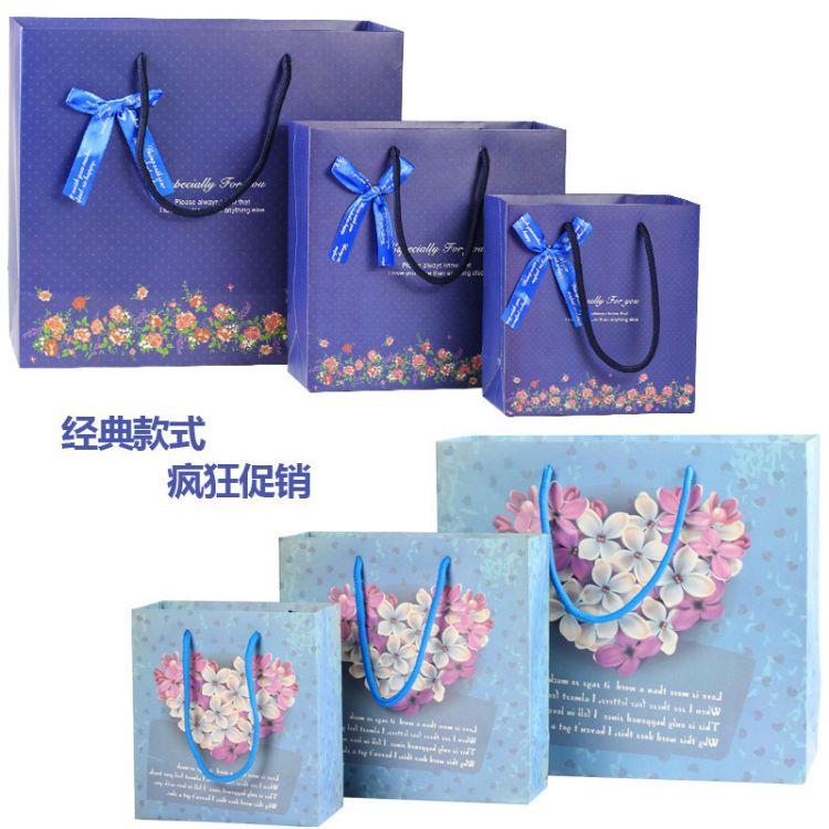 碎花礼品袋 服饰包装袋 纸袋 加印刷批发定做 手提袋 花束礼物袋