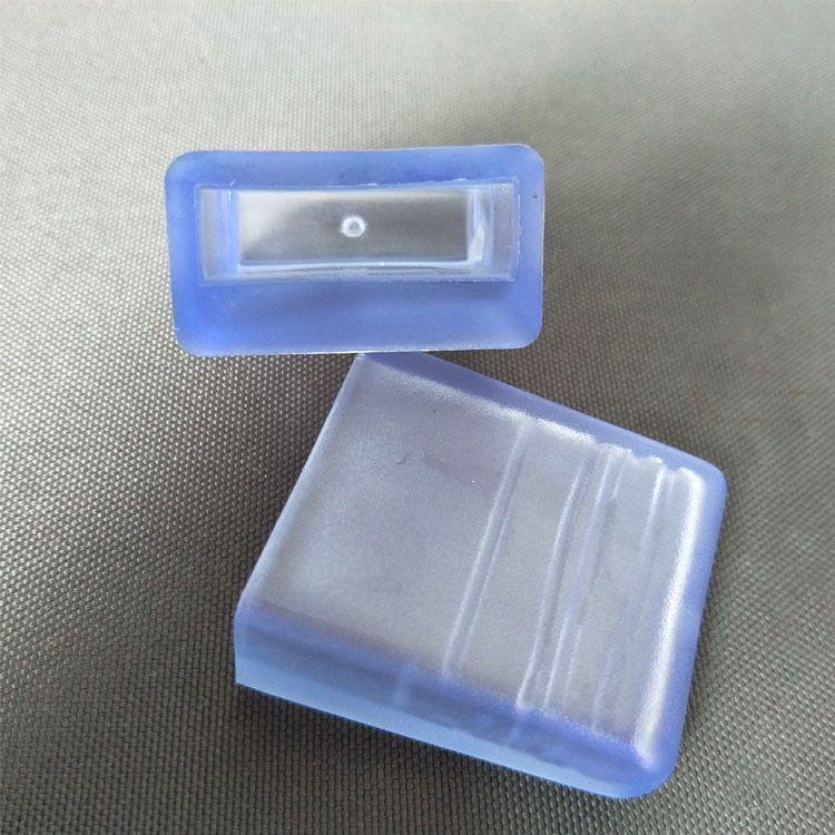 10*30方管外套透明PVC橡胶凳子脚套管帽防水椅子脚套软胶套防滑垫
