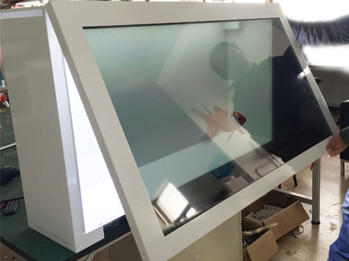 透明屏、前开门透明展示柜、高清透明液晶屏展柜