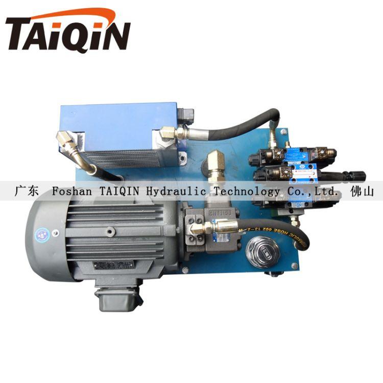 3.75KW高压叶片泵小型液压系统液压站带冷却器散热厂家设计单阀