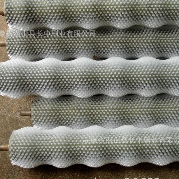 尼龙清洗刷辊厂家直销 高弹性尼龙清洗刷辊 分组式尼龙清洗刷辊