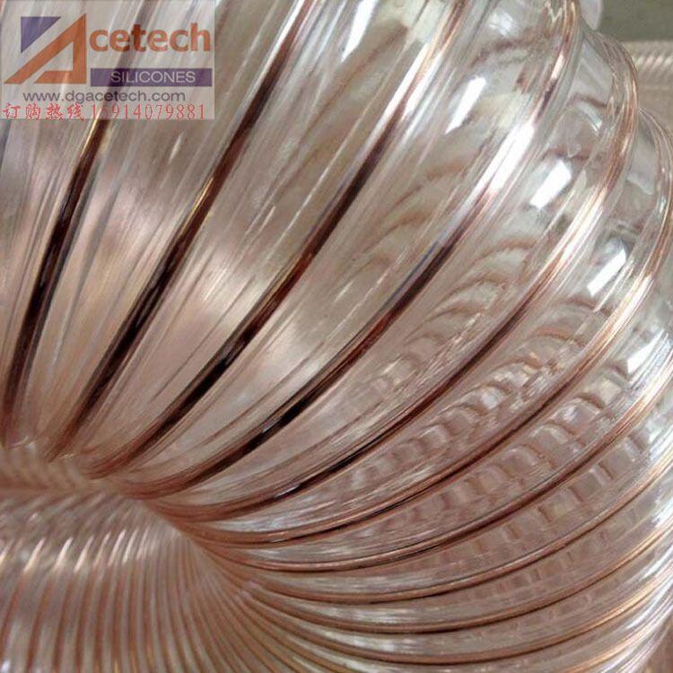 批发PU透明钢丝软管 镀铜钢丝软管 聚氨酯钢丝软管