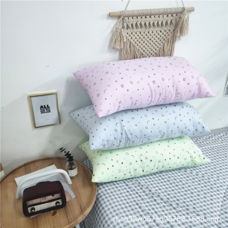 印花羽丝枕头枕芯羽丝棉现代简约 枕头成人单人枕芯枕皮批发