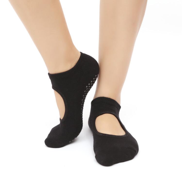 厂家批发冬款毛圈瑜伽袜女防滑露背袜瑜伽袜子运动袜专业瑜珈袜