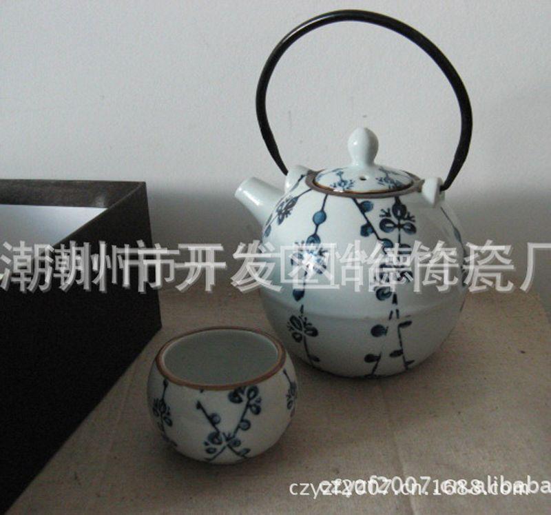 供应茶具 日用陶瓷茶具 手绘 功夫茶具 日韩茶具 一壶五杯