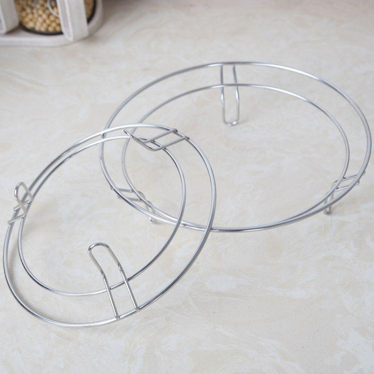 厂家直销厨房置物锅垫架实心线三脚不锈钢锅架加粗无磁圆形隔热架