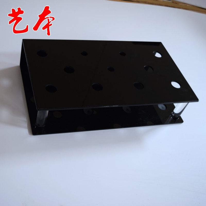 厂家生产亚克力黑色展示盒 多孔窗帘杆展示架 亚克力窗帘杆展示架