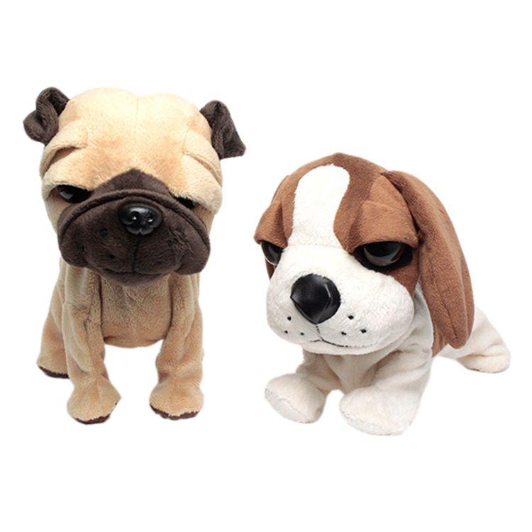 平洲毛绒玩具加工厂可爱卡通仿真机芯狗公仔跳舞狗活动礼品定制