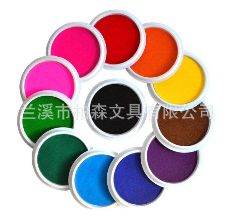 玩具印台 彩色印台印泥 环保玩具 卡通儿童手指画画小印台 多色