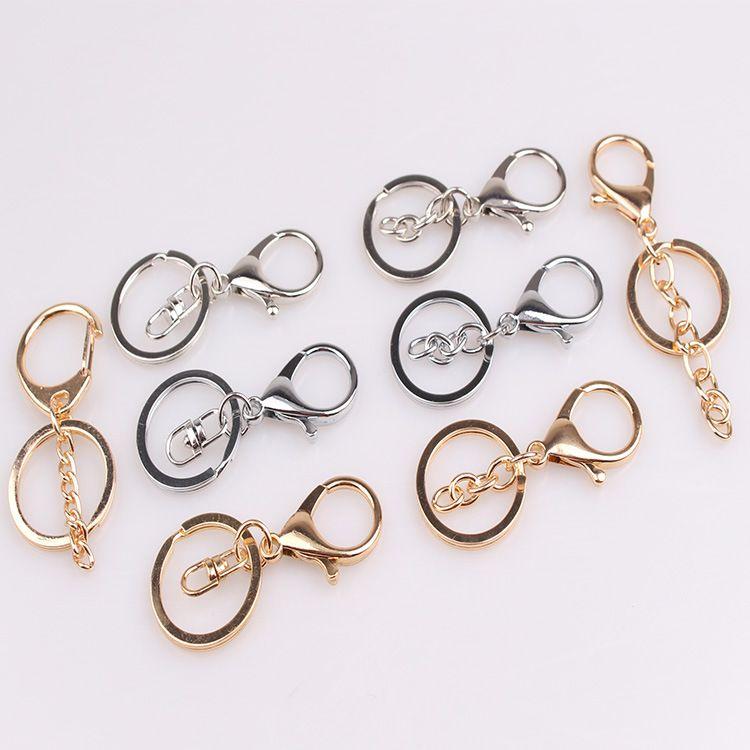 厂家批发金属钥匙扣挂件定做链圈 DIY锌合金龙虾扣三件套饰品配件