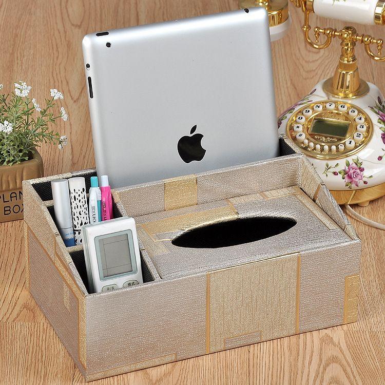 欧式壁纸防水纸巾盒 创意家用餐厅客厅多功能抽纸收纳盒定制批发
