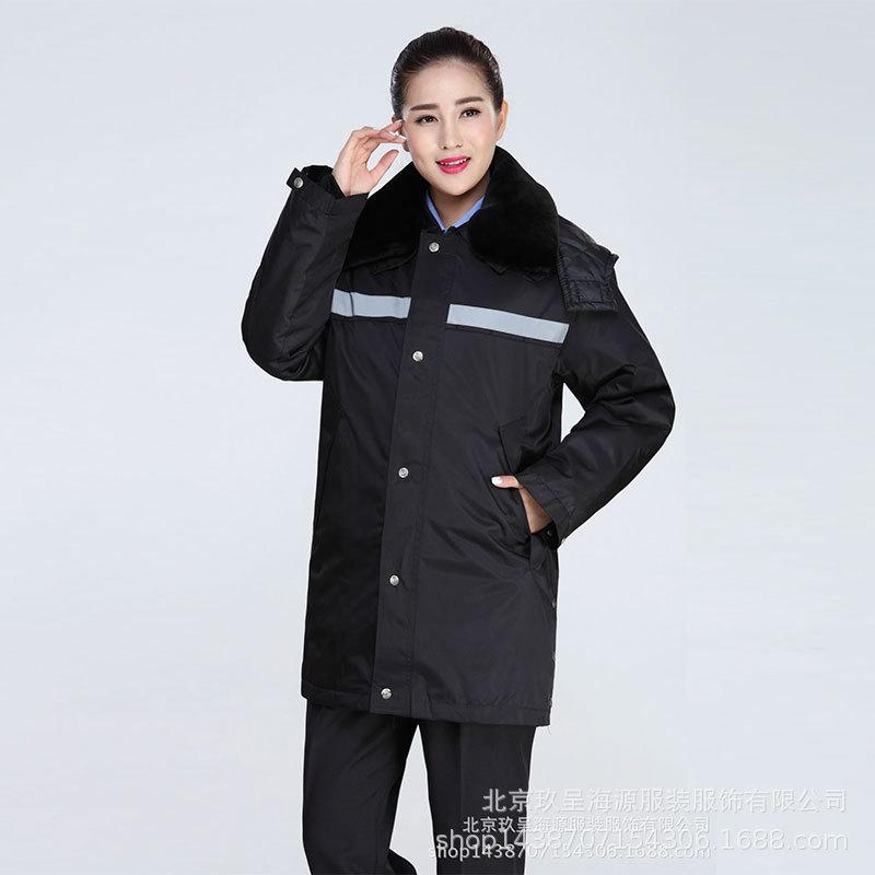 保安服冬装棉服套装男女保安制服大衣棉衣加厚防寒服厂家直销