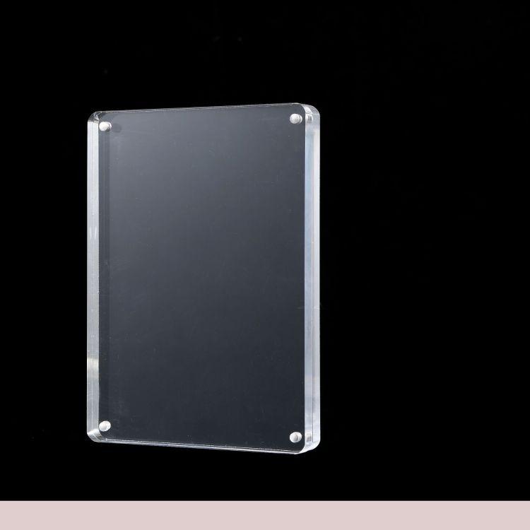 厂家定制亚克力制品 亚克力强磁相框 有机玻璃台卡台签