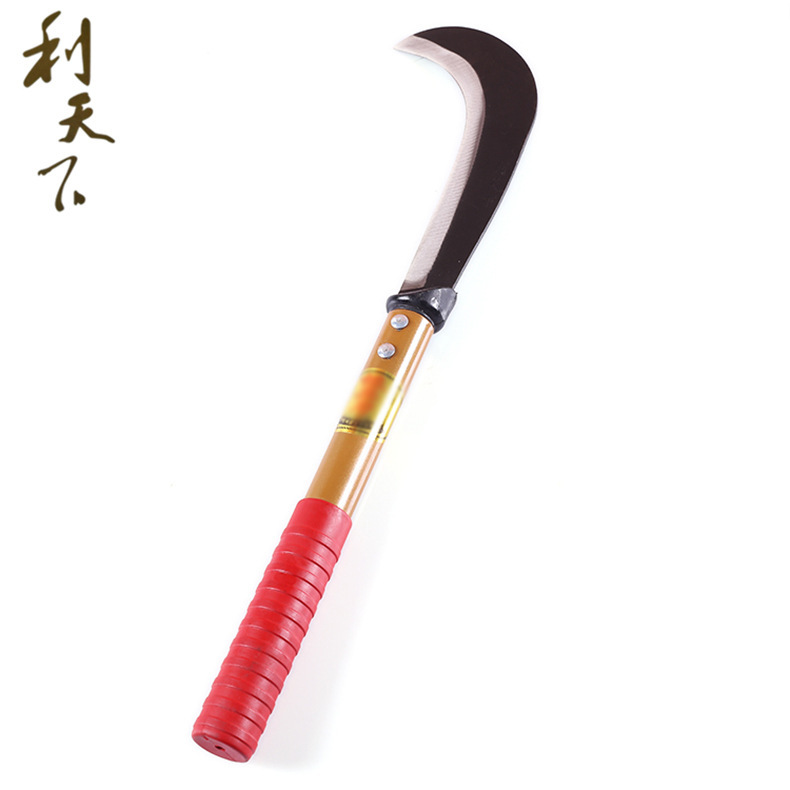 厂家直销海草农用割草刀 农用园林月芽镰刀 坚固耐用劈柴刀