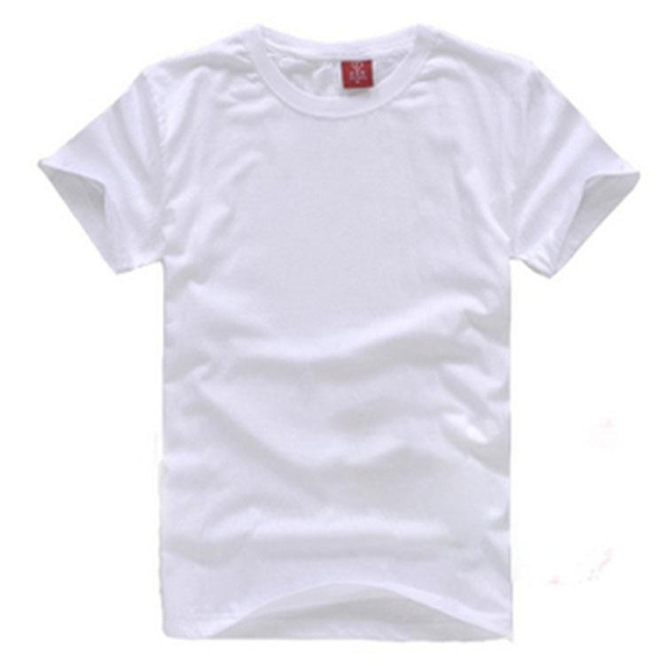 180克纯棉空白T恤男式文化衫现货批发短袖圆领广告衫班服定做